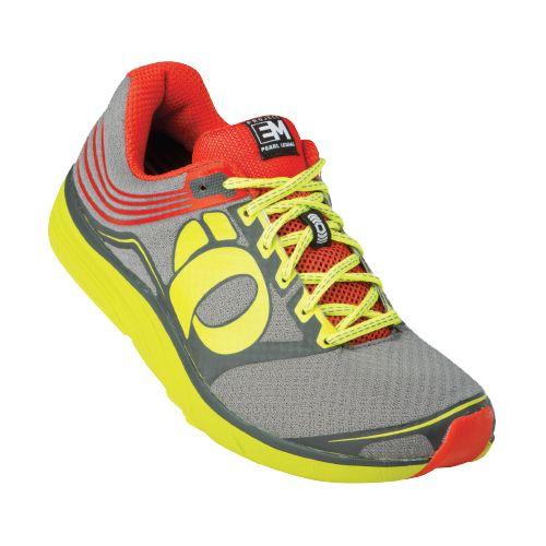 Mens Pearl Izumi EM Road N 2 Running Shoe - Cherry Tomato/Lime 7.5