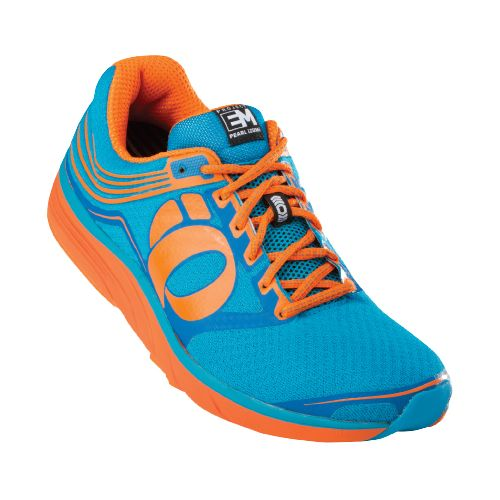 Mens Pearl Izumi EM Road N 2 Running Shoe - Electric Blue/Orange 7.5