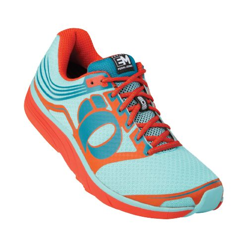 Womens Pearl Izumi EM Road N 2 Running Shoe - Cherry Tomato/Blue 10.5