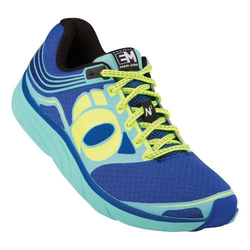 Womens Pearl Izumi EM Road N 2 Running Shoe - Dazzling Blue/Black 10.5