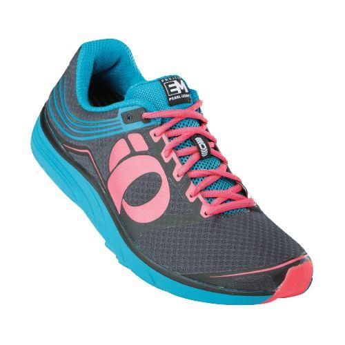 Womens Pearl Izumi EM Road N 2 Running Shoe - Shadow/Electric Pink 9