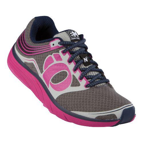 Womens Pearl Izumi Em Road N 2 Running Shoe - Shadow Grey/Berry 7.5