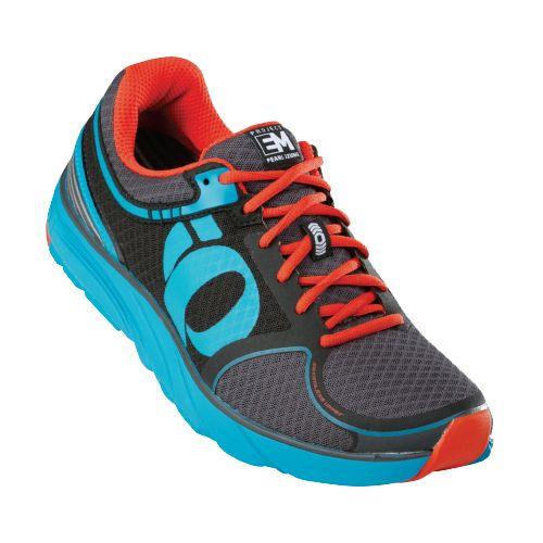 Mens Pearl Izumi EM Road M 3 Running Shoe - Black/Electric Blue 10.5