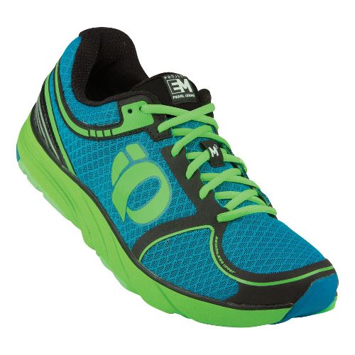 Mens Pearl Izumi EM Road M 3 Running Shoe - Blue/Electric Green 14