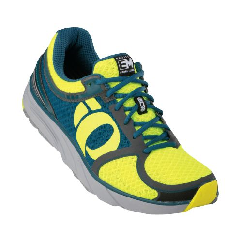 Mens Pearl Izumi EM Road M 3 Running Shoe - Screaming Yellow/Shadow Grey 7