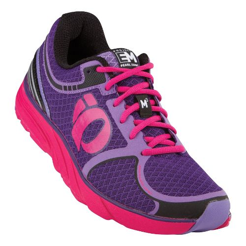 Womens Pearl Izumi EM Road M 3 Running Shoe - Blackberry/Black 12