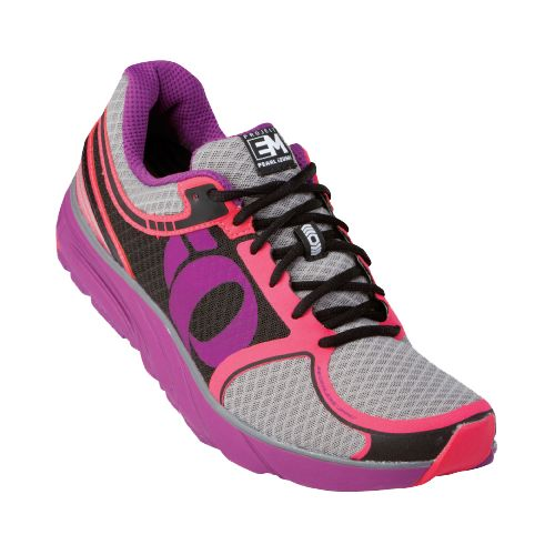 Womens Pearl Izumi EM Road M 3 Running Shoe - Black/Paradise Pink 5
