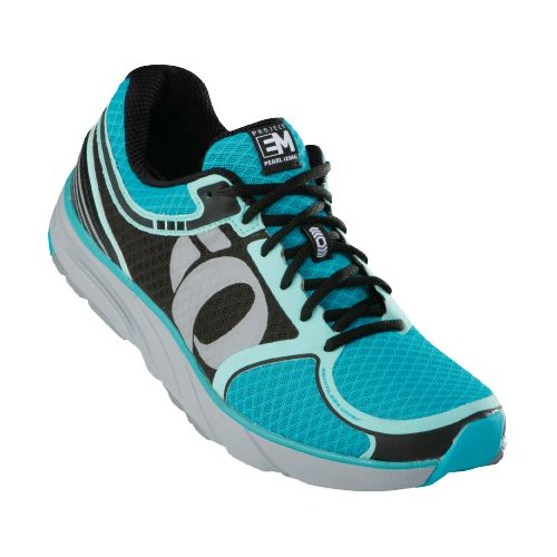 Womens Pearl Izumi EM Road M 3 Running Shoe - Black/Scuba Blue 7