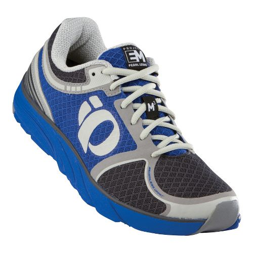 Womens Pearl Izumi EM Road M 3 Running Shoe - Dazzling Blue/Shadow Grey 10.5