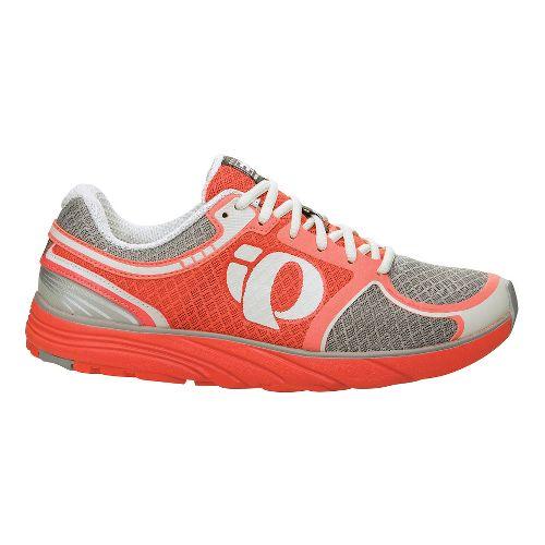 Womens Pearl Izumi EM Road M 3 Running Shoe - Living Coral/Grey 9.5