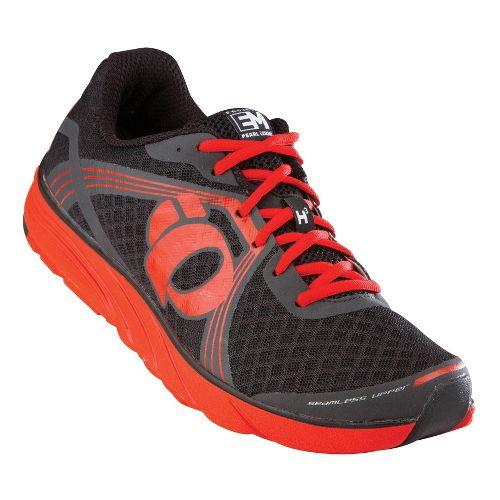 Mens Pearl Izumi EM Road H 3 Running Shoe - Black/Fiery Red 8