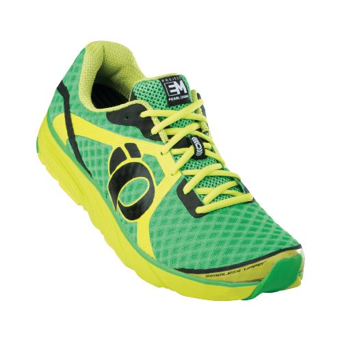 Mens Pearl Izumi EM Road H 3 Running Shoe - Fairway/Lime 10.5