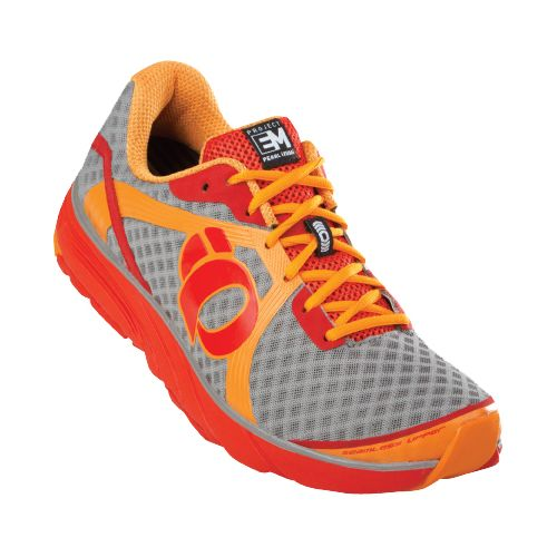 Mens Pearl Izumi EM Road H 3 Running Shoe - Safety Orange/Fiery Red 9.5