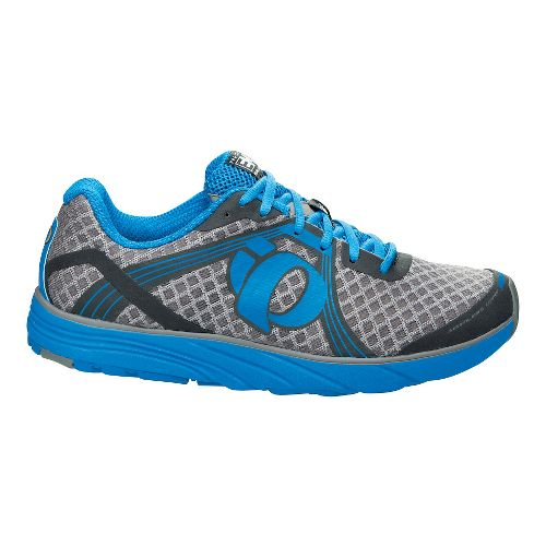 Mens Pearl Izumi EM Road H 3 Running Shoe - Grey/Brilliant Blue 10.5