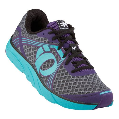 Womens Pearl Izumi EM Road H 3 v2 Running Shoe - Blackberry/Scuba Blue 10