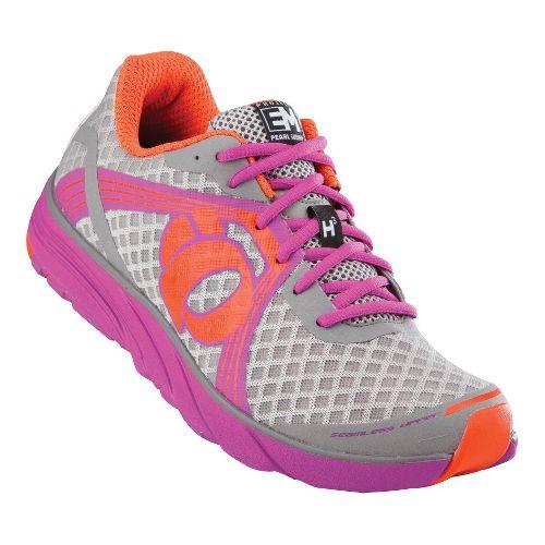 Womens Pearl Izumi EM Road H 3 Running Shoe - Grey/Raspberry Rose 9