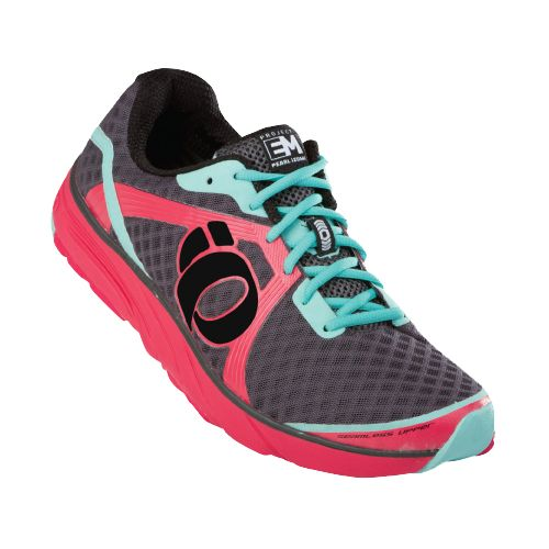 Womens Pearl Izumi EM Road H 3 Running Shoe - Paradise Pink/Shadow 8.5