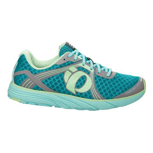 Womens Pearl Izumi EM Road H 3 Running Shoe - Aruba Blue/Peacock 9.5