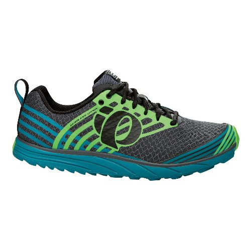 Mens Pearl Izumi EM Trail N 1 Trail Running Shoe - Grey/Harbor Blue 12.5