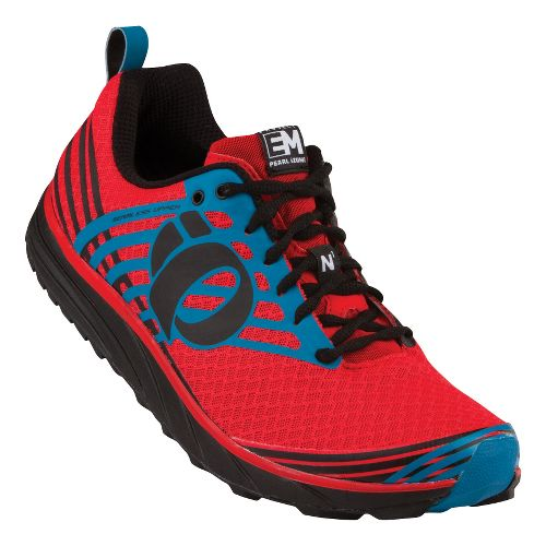 Mens Pearl Izumi Em Trail N 1 Trail Running Shoe - Black/Fiery Red 8