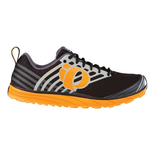 Mens Pearl Izumi EM Trail N 1 Trail Running Shoe - Black/Orange 10.5