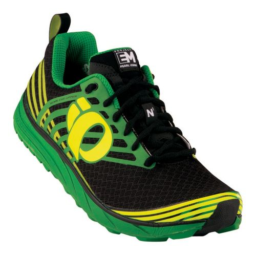 Mens Pearl Izumi Em Trail N 1 Trail Running Shoe - Black/Screaming Yellow 9