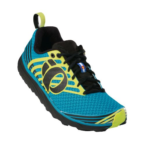Mens Pearl Izumi EM Trail N 1 Trail Running Shoe - Electric Blue/Lime 7.5