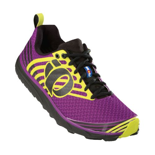 Womens Pearl Izumi EM Trail N 1 v2 Trail Running Shoe - Black/Orchid 10.5
