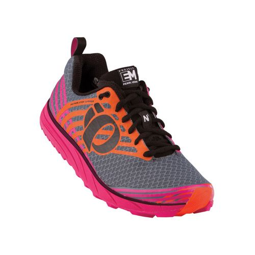 Womens Pearl Izumi EM Trail N 1 Trail Running Shoe - Black/Shadow Grey 12