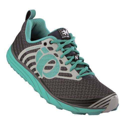 Womens Pearl Izumi EM Trail N 1 Trail Running Shoe - Shadow Grey/Black 10