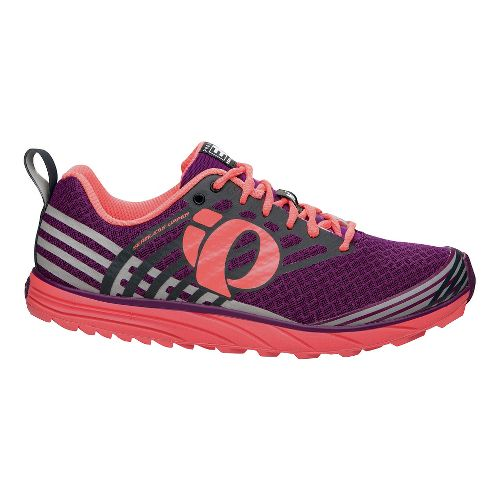 Womens Pearl Izumi EM Trail N 1 Trail Running Shoe - Dark Purple/Coral 9.5
