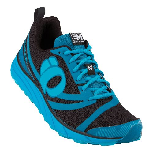 Mens Pearl Izumi EM Trail N 2 Trail Running Shoe - Black/Mykonos Blue 9.5