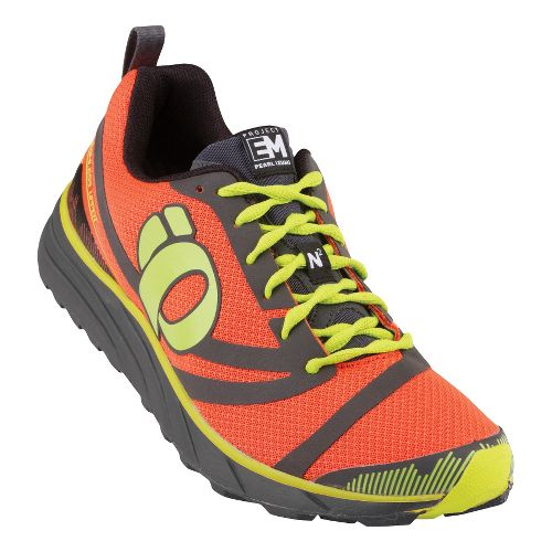 Mens Pearl Izumi EM Trail N 2 Trail Running Shoe - Flame/Shadow Grey 11.5