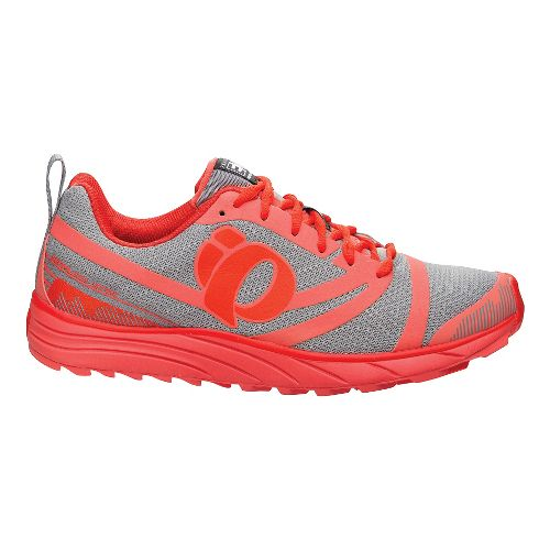Womens Pearl Izumi EM Trail N 2 Trail Running Shoe - Living Coral/Grey 12