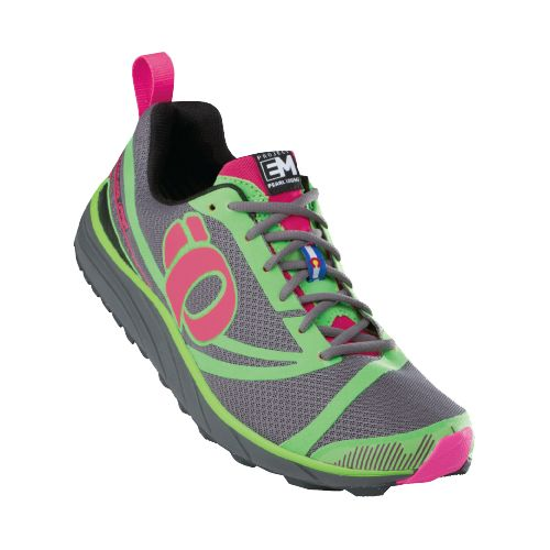 Womens Pearl Izumi EM Trail N 2 Trail Running Shoe - Electric Pink/Grey 7