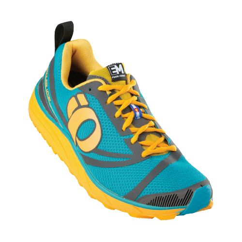 Womens Pearl Izumi EM Trail N 2 Trail Running Shoe - Peacock/Shadow 9.5