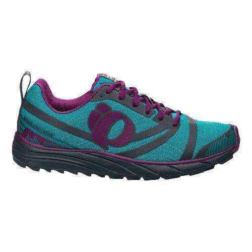 Womens Pearl Izumi EM Trail N 2 Trail Running Shoe - Peacock/Grey 10.5