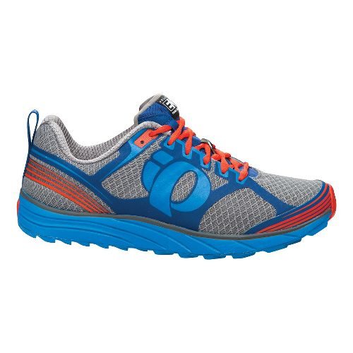 Mens Pearl Izumi EM Trail M 2 Trail Running Shoe - Grey/Brilliant Blue 10