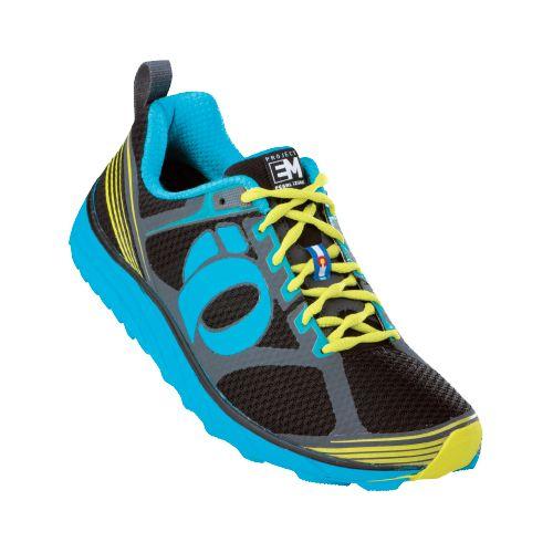 Mens Pearl Izumi EM Trail M 2 Trail Running Shoe - Grey/Brilliant Blue 9.5
