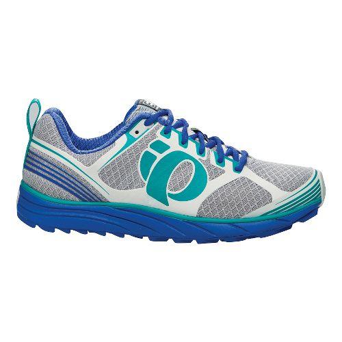 Womens Pearl Izumi EM Trail M 2 Trail Running Shoe - Dazzling Blue/White 10.5