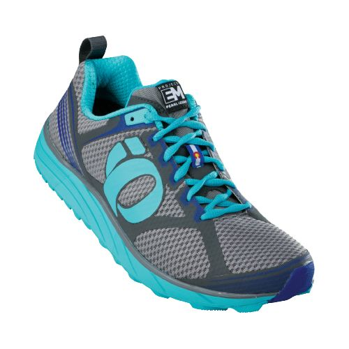 Womens Pearl Izumi EM Trail M 2 Trail Running Shoe - Scuba Blue/Shadow Grey 5.5 ...