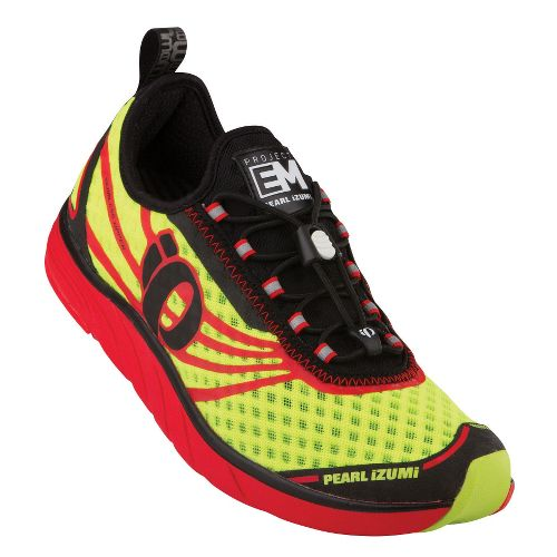 Mens Pearl Izumi EM Tri N 1 Racing Shoe - Black/Screaming Yellow 10.5