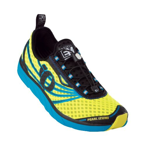 Mens Pearl Izumi EM Tri N 1 Racing Shoe - Electric Blue/Screaming Yellow 11.5