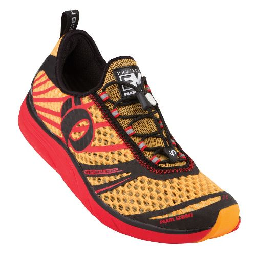 Mens Pearl Izumi EM Tri N 2 Racing Shoe - Black/Blazing Orange 11.5