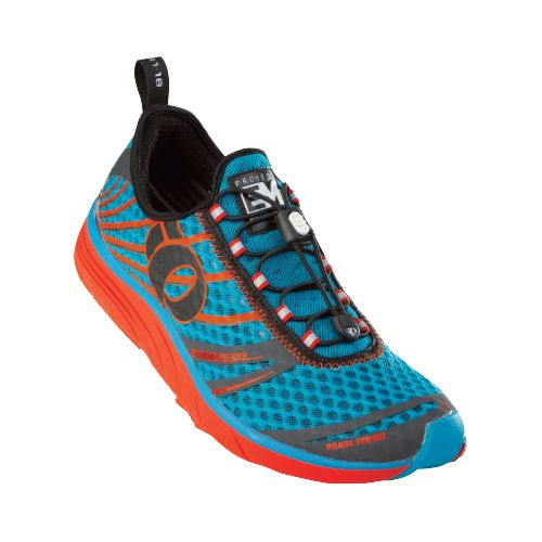 Mens Pearl Izumi EM Tri N 2 Racing Shoe - Electric Blue/Shadow Grey 8.5