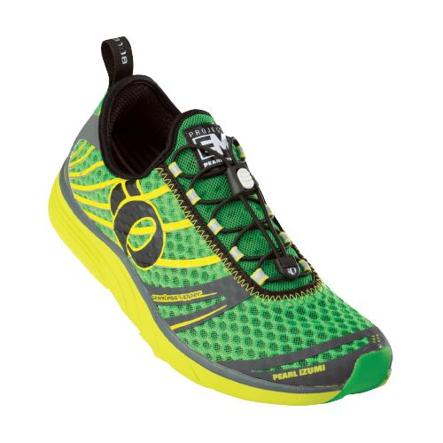 Mens Pearl Izumi EM Tri N 2 Racing Shoe - Fairway/Lime 12.5