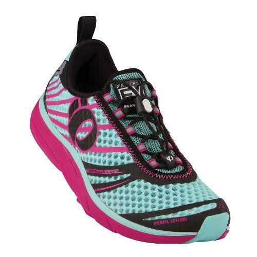 Womens Pearl Izumi EM Tri N 2 Racing Shoe - Aruba Blue/Berry 5.5