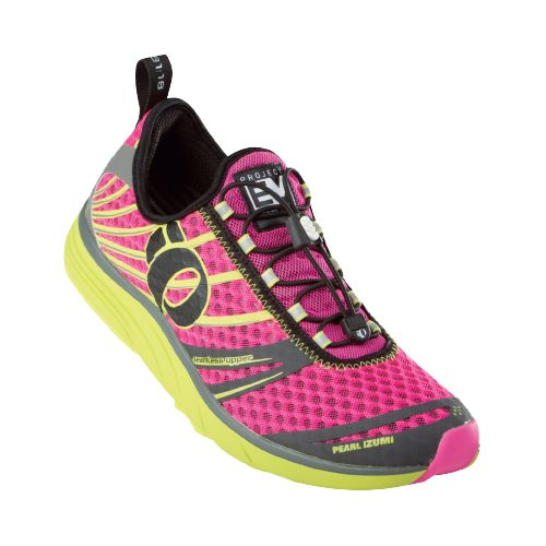 Womens Pearl Izumi EM Tri N 2 v2 Racing Shoe - Electric Pink/Lime 10.5