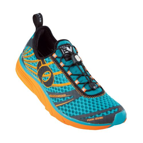 Womens Pearl Izumi EM Tri N 2 Racing Shoe - Scuba Blue/Shadow Grey 5.5