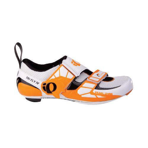 Mens Pearl Izumi P.R.O. Series Tri Fly IV Carbon Cycling Shoe - White 45.5
